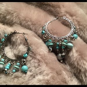 4 for $19! Turquoise and silver Earrings